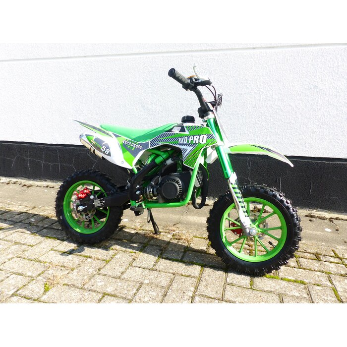 Pocketbike KXD 702 Dirtbike Pocket Cross Bike Kindercross Crossbike Grün