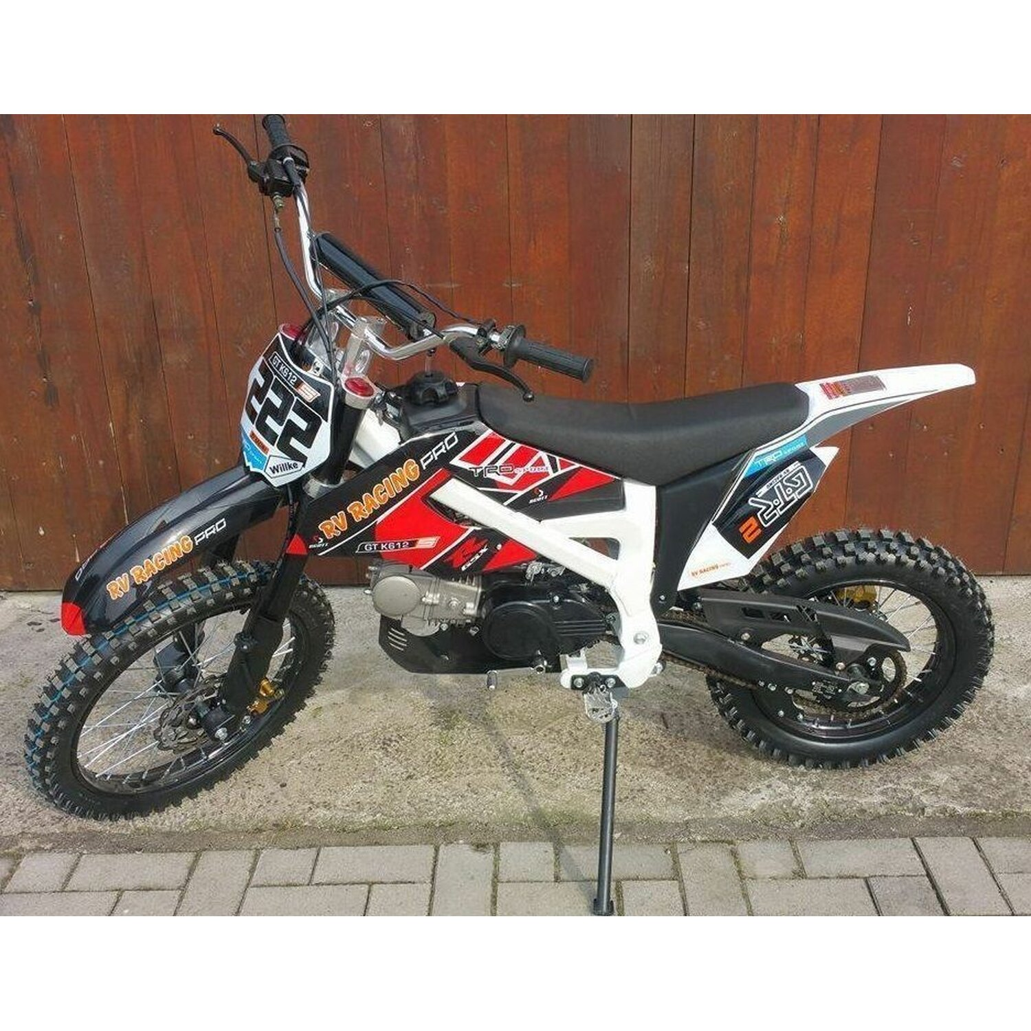 125ccm dirtbike pitbike kxd 612 4takt 4 gang 17 14 enduro. Black Bedroom Furniture Sets. Home Design Ideas